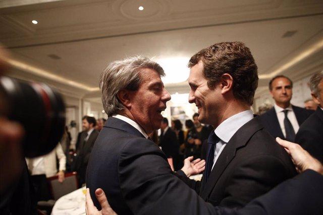 El presidente del PP, Pablo Casado, protagoniza un Desayuno Informativo de Europ