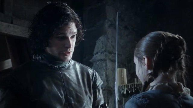 Juego de tronos: Filtrado el reencuentro entre Jon Snow y Arya Stark (vídeo)