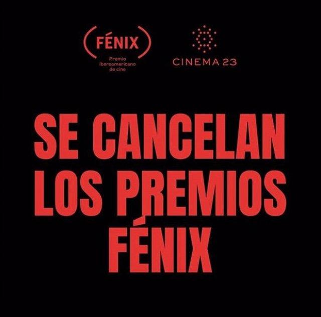 Se cancelan los Premios Fénix por falta de apoyo del gobierno de Ciudad de Méxic