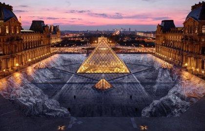 La ilusión óptica en el Museo del Louvre que duró tan solo 24 horas