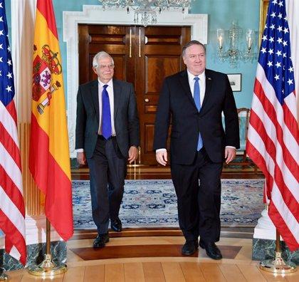 Borrell trata con Pompeo cuestiones sobre Venezuela y Cuba o la participación de España en la OTAN