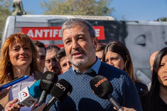El candidat del PSC a l'alcaldia de Barcelona, Jaume Collboni, presenta un aut