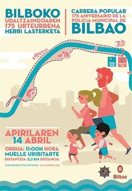 La inscripción para la carrera popular que organiza la Policía Municipal de Bilb