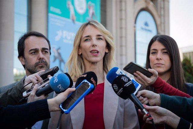 La cabeza de lista del PP por Barcelona a las elecciones generales, Cayetana Álv