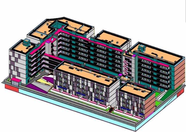 Arranca la primera promoción de viviendas industrializadas de seis alturas en Mó