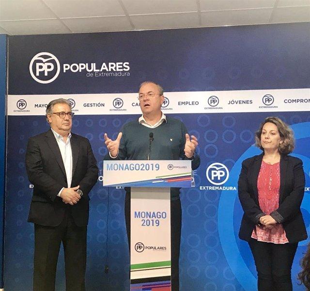 Monago critica que la Junta de Extremadura cumple con el déficit porque la obra