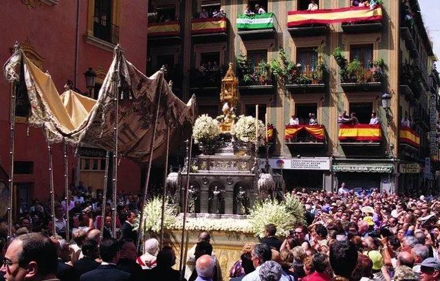Procesión de Corpus Christi en Granada