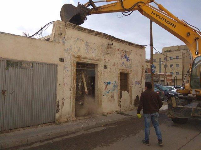 Demolición en Barrio Alto en Almería