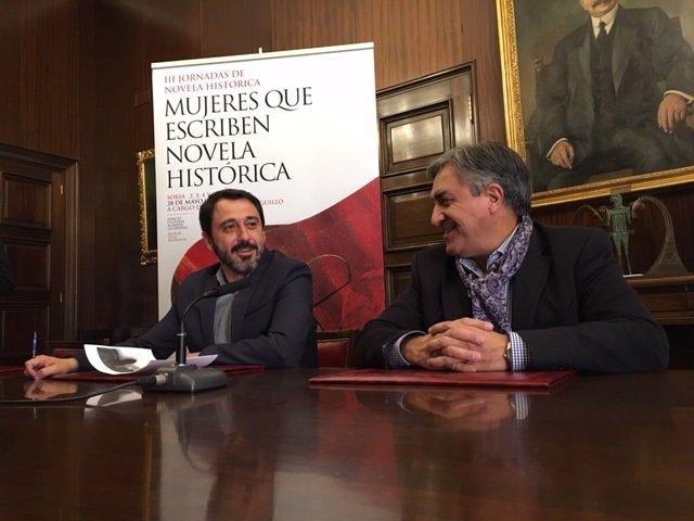 Foto nuestra. Javier Muñoz (izda) y José Luis Corral (dcha)