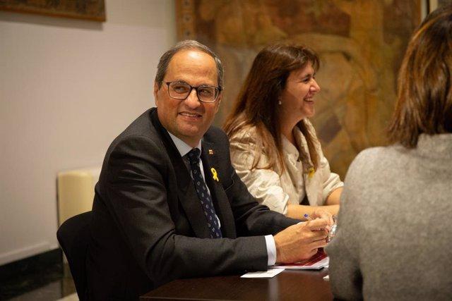 Va reunir de treball del president Quim Torra i la consellera de Cultura Laura B