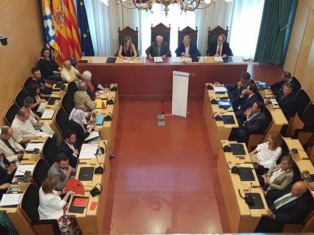 Ple de l'Ajuntament de Badalona
