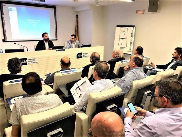 El president de l'ACM, David Saldoni, en el Comit Executiu de l'entitat
