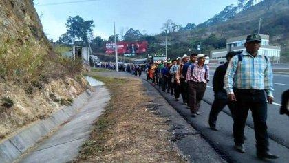 El pueblo Lenca protesta contra el abandono del Gobierno tras la pérdida de sus cosechas en Honduras
