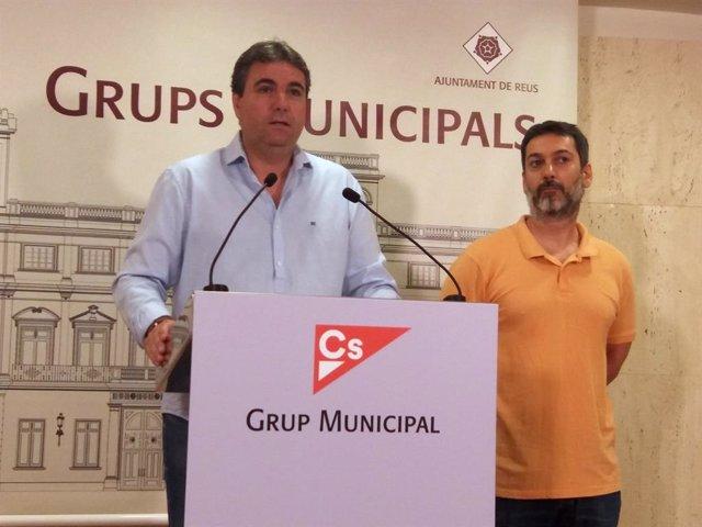 Roda de premsa de Cs de Reus (Tarragona)