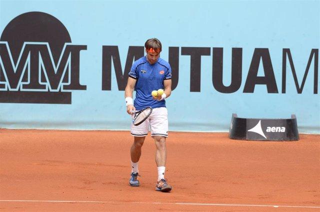 David Ferrer durante el Mutua Madrid Open 2016