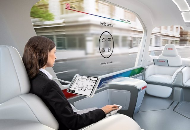 Interior coche autónomo de Bosch