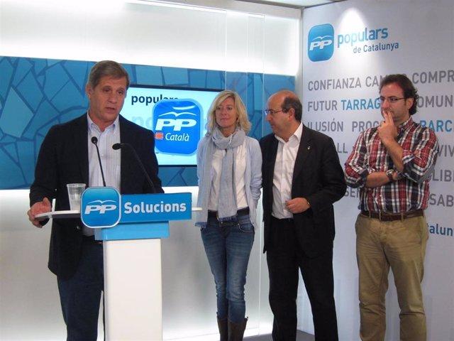 Alberto Fernández, Belén Pajares, Javier Mulleras y Alberto Villagrasa