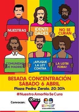 Una 'besada' protestará este sábado contra la homofobia en la Plaza Pedro Zerolo