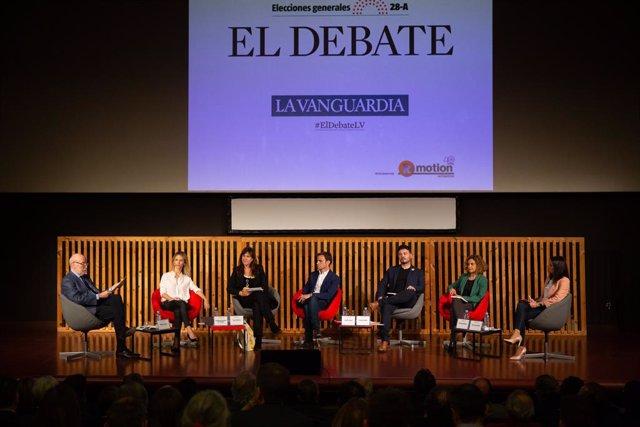 Debat de 'La Vanguardia' amb els candidats Jaume Asens (ECPodem), Gabriel Rufi