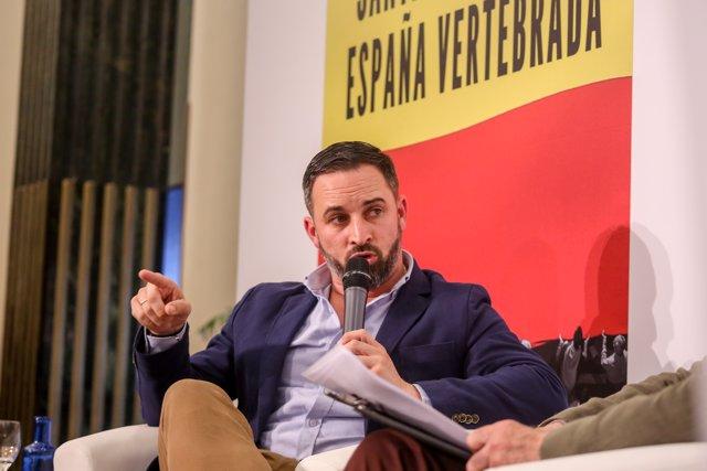 Santiago Abascal en la presentación del libro 'España vertebrada'