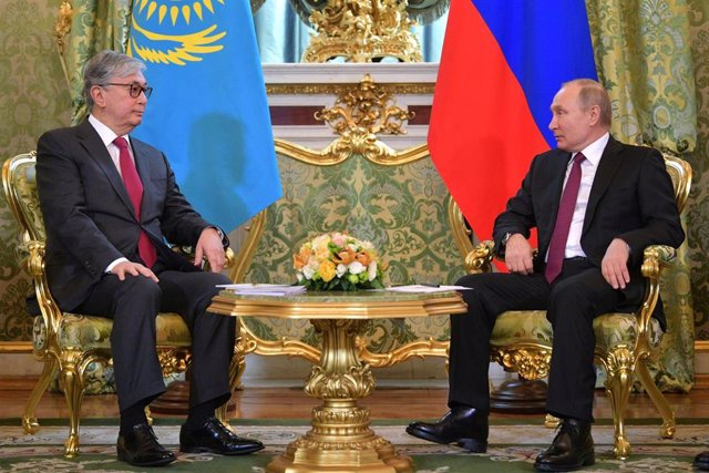 Kazakh interim President Kassym-Jomart Tokayev in Moscow