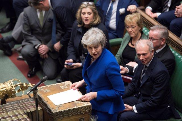Theresa May en la Cámara de los Comunes