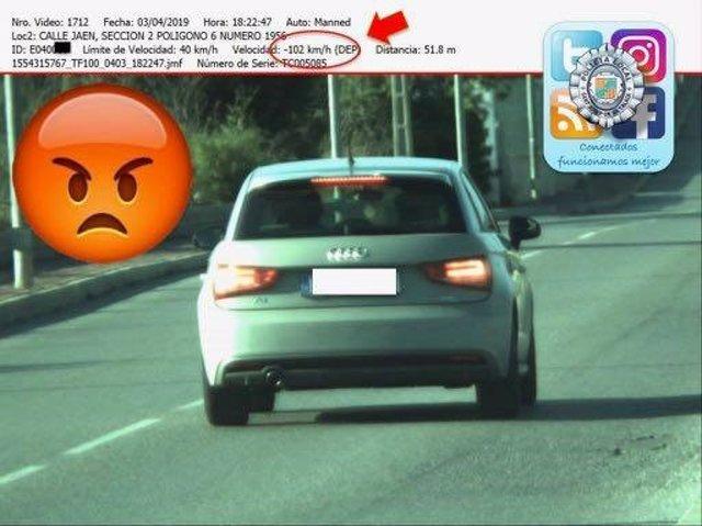 Sucesos.- Sorprendido en Sant Josep otro vehículo a 102 Km/h en un tramo donde s
