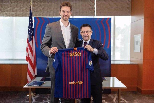 Bàsquet.- Pau Gasol torna al Barça com a ambaixador del club en Estats Unit