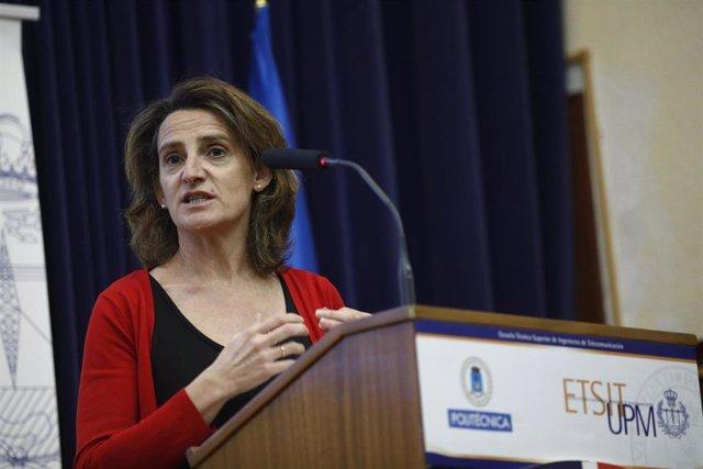 La ministra para la Transición Ecológica Teresa Ribera interviene en el Ciclo de
