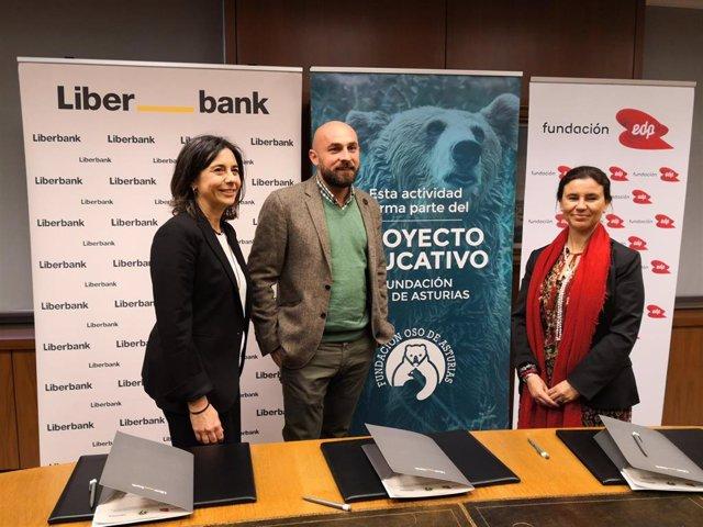 Liberbank, EDP y Fundación Oso ponen en marcha el proyecto 'Informadores ambient