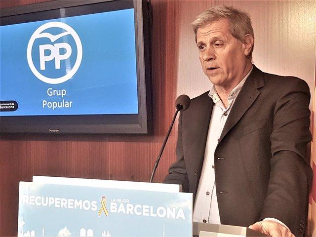 """Alberto Fernández (PP) acusa Colau de """"regalar 6 milions a Torra"""" amb la cessió"""