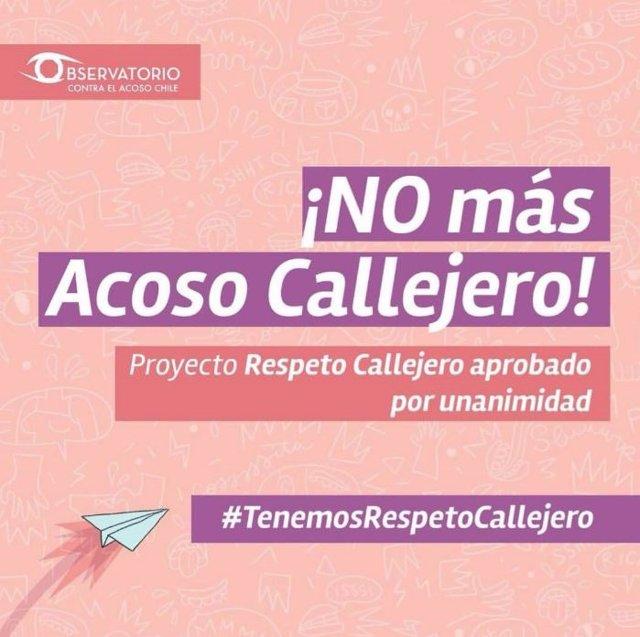 El acoso sexual en espacios públicos será sancionado en Chile