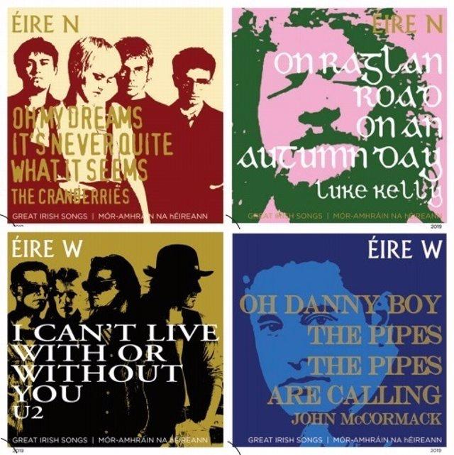 U2 y The Cranberries, en una nueva edición de sellos del servicio postal irlandé