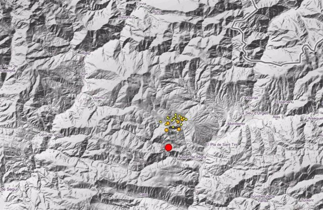 El terremoto de Ribera d'Urgellet (Lleida) se notó en 18 poblaciones catalanas