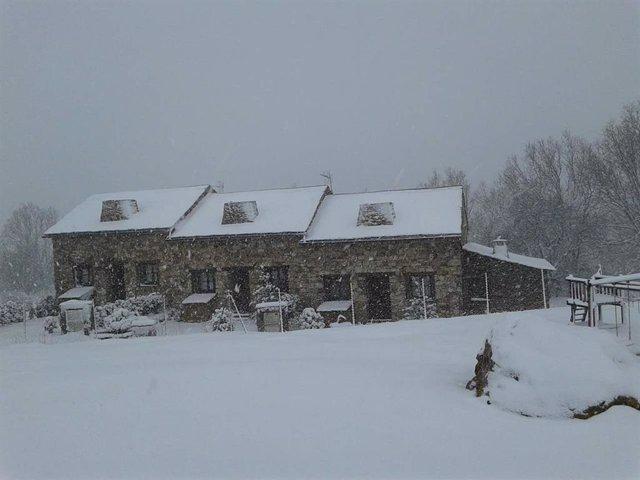 Aviso amarillo por nevadas en Pirineo oscense