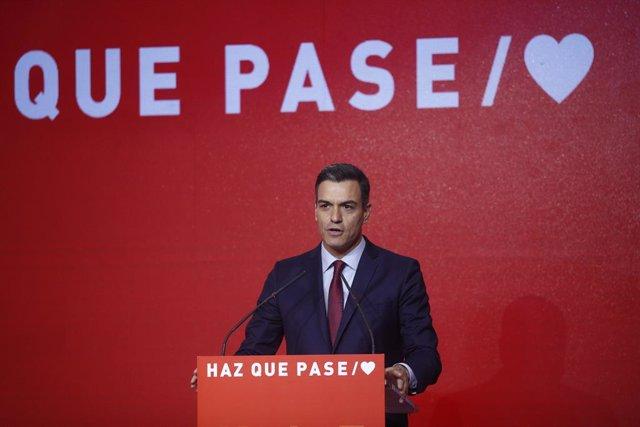 28A.- Sánchez apell'a un extra de mobilització en la presentació de la seua ca