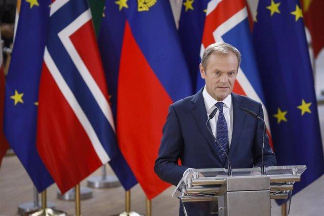 Brexit.- Tusk convoca una cumbre de líderes europeos el 10 de abril tras el terc
