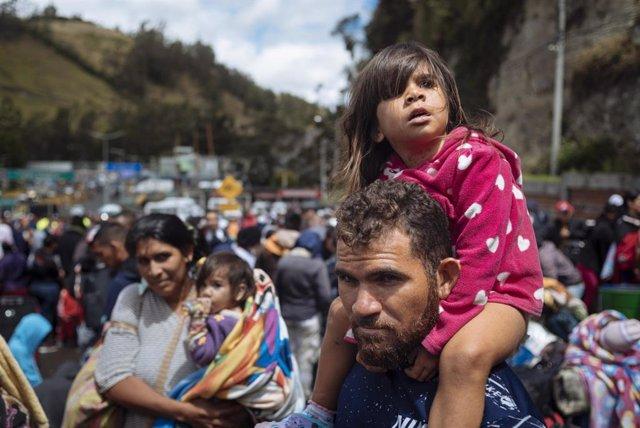 Veneçuela.- La crisi migratòria a Veneçuela deixa 1,1 milions de nens neces