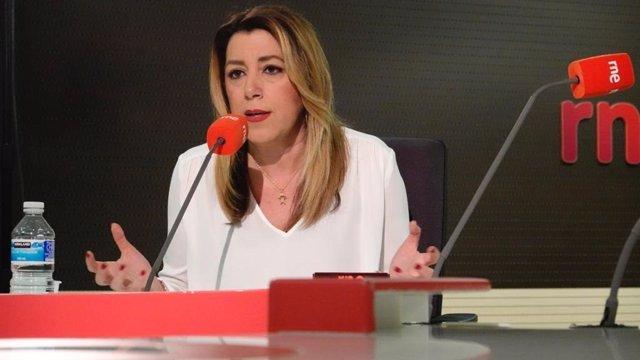 "Susana Díaz ve ""irresponsable"" que PP y Cs, con tal de provocar  ""bloqueo, entre"