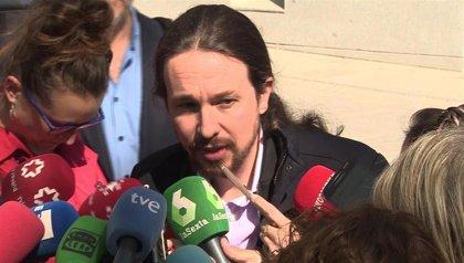 """Pablo Iglesias califica de """"indecente"""" que se detuviera al hombre que ayudó a su mujer a suicidarse"""