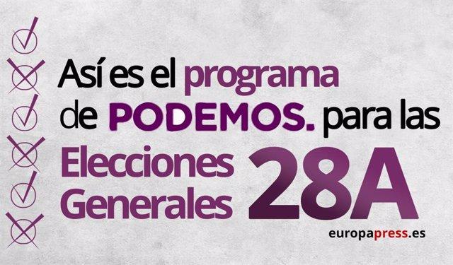 Elecciones 2019: Este es el programa electoral de Podemos para el 28A
