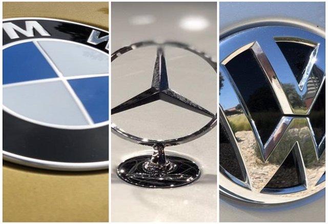 Collage BMW, Mercedes-Benz y Volkswagen