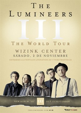 The Lumineers anuncian concierto en Madrid