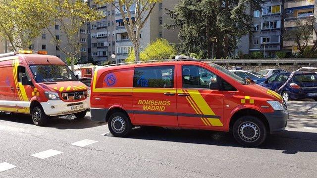 ACT.- Sucesos.- Extinguido el incendio de Ciudad de los Periodistas, originado p