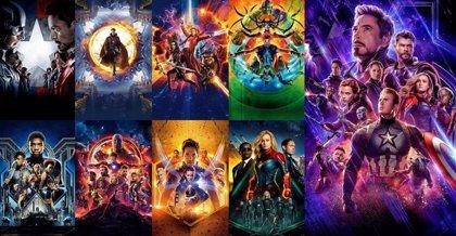 Calendario con todas las películas del Universo Marvel en orden cronológico antes de Vengadores: Endgame