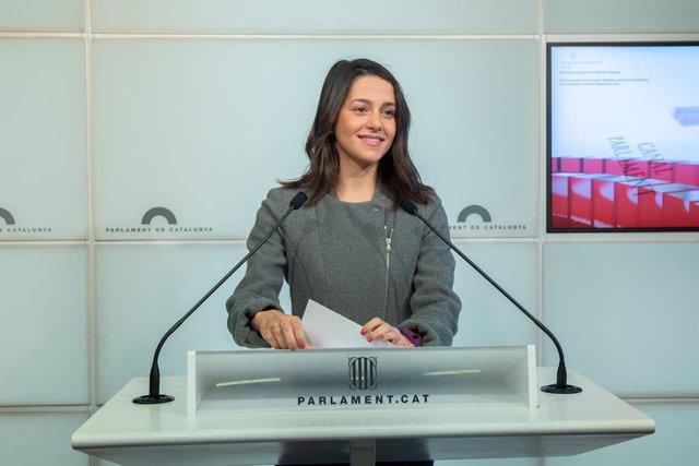 Roda de premsa de Ciutadans en el Parlament de Catalunya