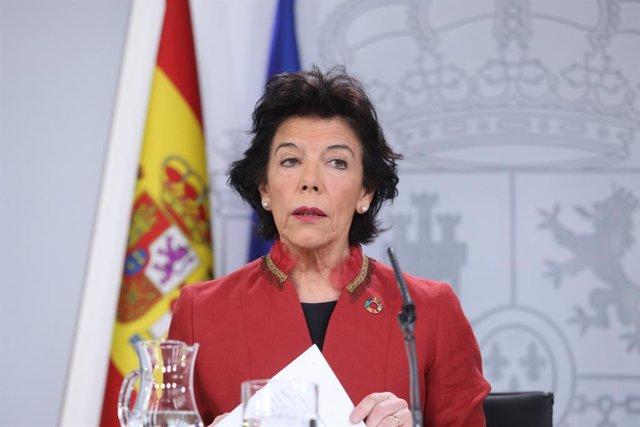 Roda de premsa posterior al Consell de Ministres