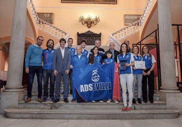 Sevilla.- Recepción institucional al club ADSevilla tras la medalla de oro en at
