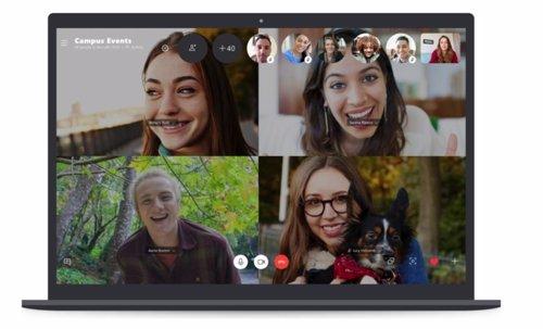 Skype ya permite incorporar hasta cincuenta participantes en una videollamada gr