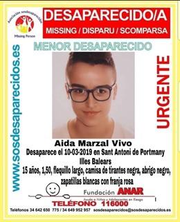 Successos.- Desapareix una jove de 15 anys a Sant Antoni de Portmany
